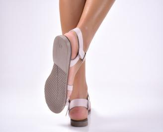 Дамски равни  сандали естествена кожа розови RRTK-1012663
