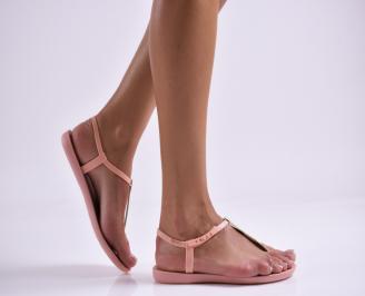 Дамски равни  сандали  пудра SZGU-27307