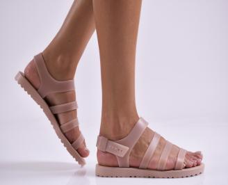 Дамски равни  сандали  пудра EUMP-27319