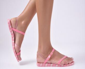 Дамски равни  сандали розови WHAC-27327