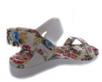 Дамски равни сандали текстил шарени KFXV-19650