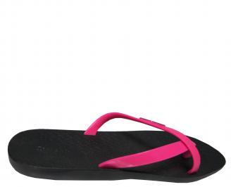 Дамски равни силиконови чехли Ipanema черно/розово GVXD-21677