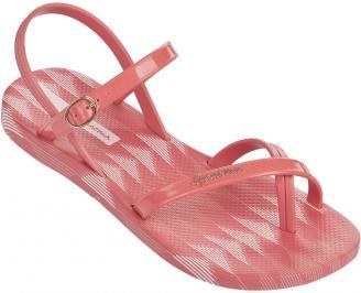 Дамски равни силиконови сандали Ipanema червени HXRT-24331