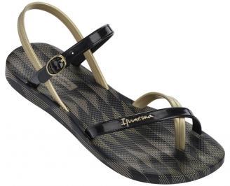 Дамски равни силиконови сандали Ipanema черни FMVU-24333