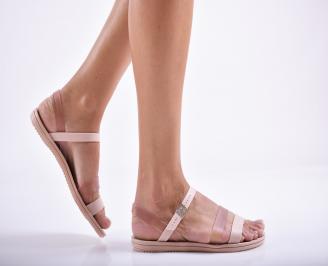 Дамски равни силиконови сандали  пудра JOJK-27284