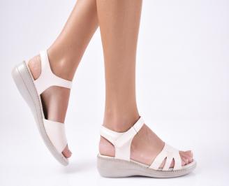 Дамски сандали еко кожа бежови OKJX-1012108