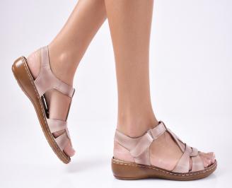 Дамски сандали еко кожа бежови KVST-1012109