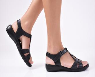 Дамски сандали еко кожа черни UVLL-1012111
