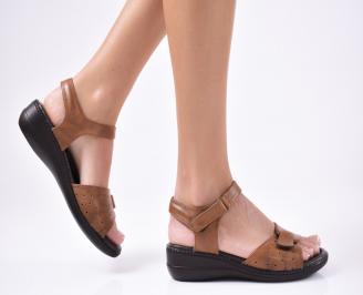 Дамски сандали еко кожа кафяви XSEQ-1012112