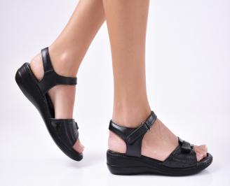Дамски сандали еко кожа черни NSJF-1012113