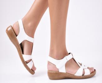 Дамски сандали еко кожа бели VMKR-1012114