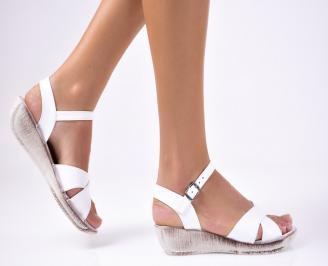 Дамски сандали еко кожа бели FEQN-1012224