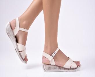 Дамски сандали еко кожа бежови XJIU-1012227