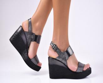 Дамски  сандали еко кожа черни UMOE-1012263