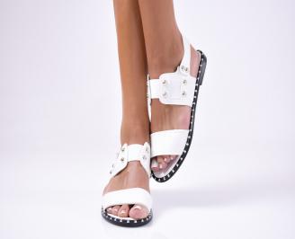 Дамски сандали еко кожа бели DYHJ-1012452