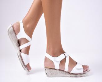 Дамски сандали еко кожа бели ICFS-1012453