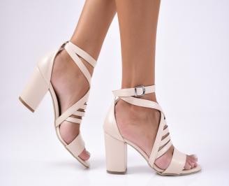 Дамски сандали  еко кожа  бежови DYLS-1012475