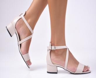 Дамски сандали  еко кожа  бежови HNZB-1012480