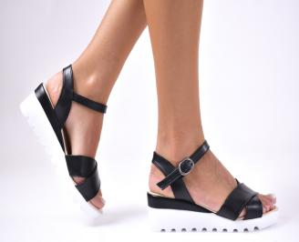 Дамски  сандали еко кожа черни PJED-1012594
