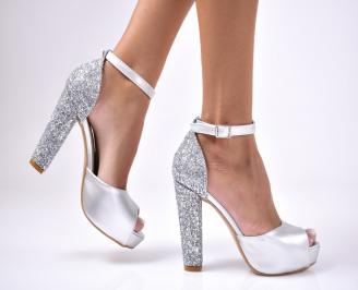 Дамски сандали  еко кожа  сиви YBFD-1012607