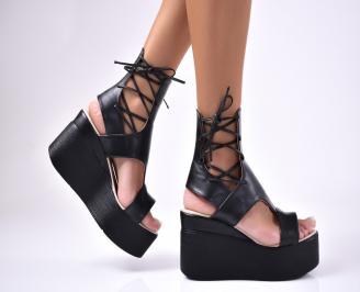 Дамски  сандали еко кожа черни YIJZ-1012616