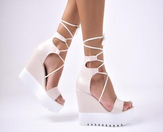 Дамски сандали  еко  кожа  бежови LOAP-1012682
