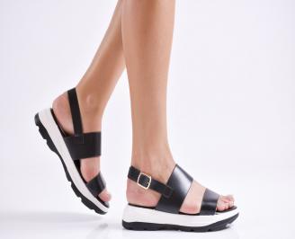 Дамски сандали еко кожа черни OJFJ-23547