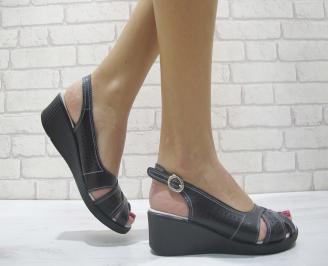 Дамски сандали еко кожа черни WJPH-23882