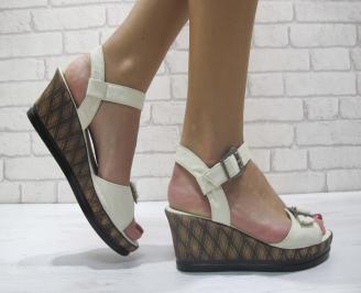 Дамски сандали еко кожа бежови WKPH-23903
