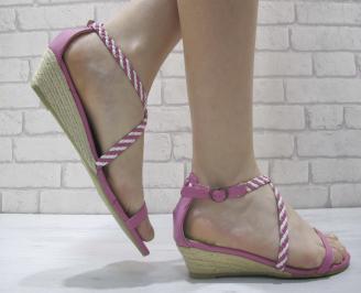 Дамски сандали еко кожа розови MSDO-23917