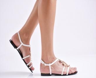 Дамски сандали еко кожа бели EZPB-23999