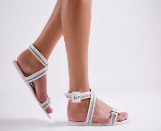 Дамски сандали еко кожа бели IFBK-24002