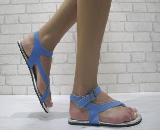 Дамски сандали еко кожа сини UNQD-24010