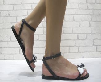 Дамски сандали еко кожа черни JRZB-24019
