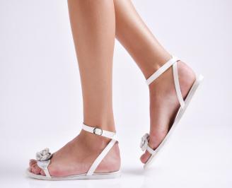 Дамски сандали еко кожа бели ARFC-24020