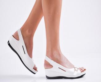 Дамски сандали еко кожа бели ZHNV-27109