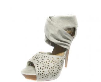 Дамски сандали еко кожа сиви CPBR-13442