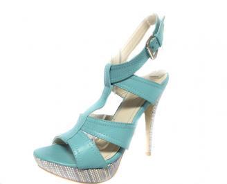 Дамски сандали еко кожа сини JPRZ-13451
