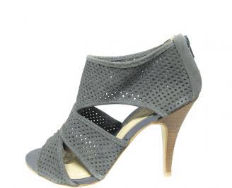 Дамски сандали еко кожа сиви MIQA-13464