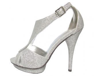 Дамски сандали еко кожа сребристи QPCZ-13511