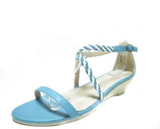 Дамски сандали еко кожа сини WKLV-13670