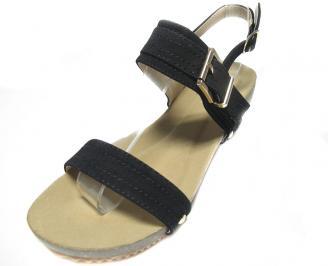 Дамски сандали еко кожа черни TDQY-13881