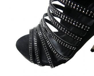 Дамски сандали еко кожа черни ZHTL-15921