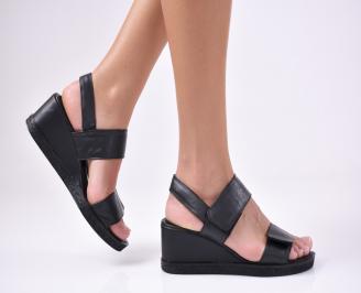 Дамски  сандали естествена кожа черни HNGZ-1012133