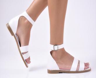 Дамски  сандали естествена кожа бели BBXS-1012186
