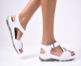 Дамски  сандали естествена кожа бели PTXP-1012218