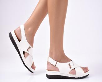 Дамски сандали  естествена кожа  бежови VRXF-1012225