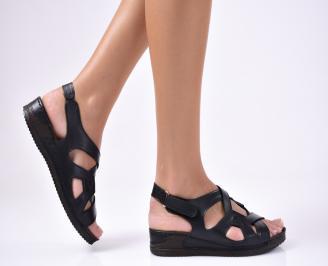Дамски  сандали естествена кожа черни ATOH-1012230