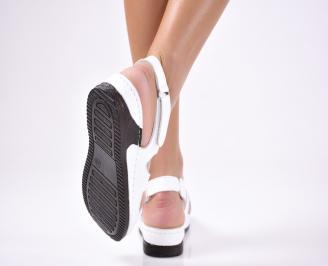 Дамски  сандали естествена кожа бели WKTO-1012231