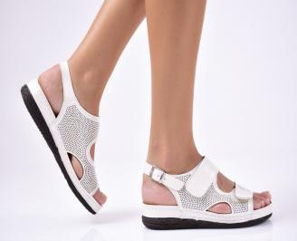 Дамски сандали  естествена кожа  бежови ASYP-1012237